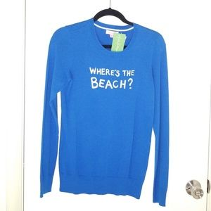 "Lilly Pulitzer ""where's the beach?"" Sweater"